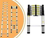 Leogreen - Telescopic ladder, Ausziehbare Leiter, 3,2 Meter, EN 131, Maximalbelastung: 150 kg, Gefaltete Größe: 82 x 48 x 8 cm