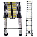 LARS360 Teleskopleiter Multifunktionsleiter Ausziehleiter Anlegeleiter Mehrzweckleitern Hochwertigem aluminium Leiter (4.4m)